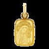 Złoty medalik pr. 585 M.B. z dzieciątkiem prostokąt ZM009